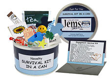 Engagement Survival Kit In A Can. Novelty Gift - Boyfriend/Fiance Present & Card