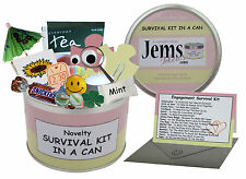 Engagement Survival Kit In A Can. Novelty Gift - Fun Girlfriend Present / Card