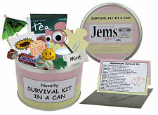 Anniversary Survival Kit In A Can. Novelty Gift - Fun Girlfriend Present / Card