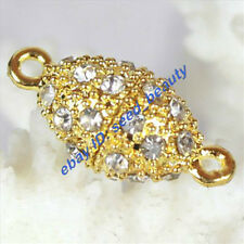 A Grade Crystal Inlayed Gold Plated Magnet Olive Clasp