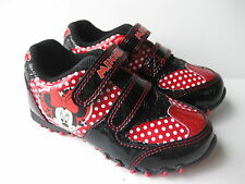 Girls SIZE 6 - 12 Black Red MINNIE MOUSE Trainers New Disney
