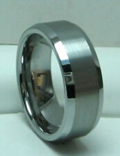 MEN 8MM TUNGSTEN CARBIDE SATIN FINISHED comfort fit ring Wedding Band