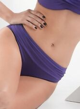MOONTIDE Glamour Bow Belle Rouched Top BIKINI BRIEF in Blueberry