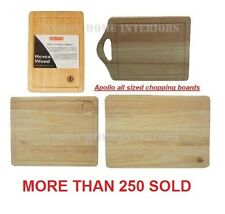 APOLLO HEAVEA RUBBER WOOD ALL SIZE MEAT CHOPPING PASTRY CUTTING BREAD BOARDS