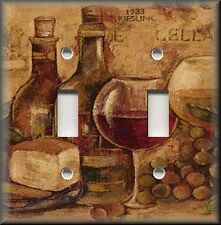 Light Switch Plate Cover - Kitchen Decor - Vintage Wine - Home Decor - Bar