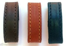 """Two 1/2"""" Wide Genuine Leather Replacement Belt Keeper Loops 8 Colors /  5 Sizes"""