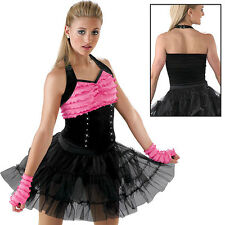NEW 'Video Killed Radio Star' Black Pink Jazz Hip Hop Dance Competition Costume