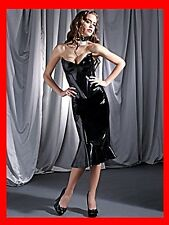 SEXY NEW EX-ANN SUMMERS HOURGLASS BLK PVC FISHTAIL LACE UP HARMONY SKIRT SZ 8-20