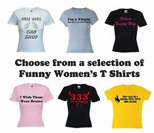 Womens Funny T Shirt - Choose From These Hilarious Ladies Girl Hen Joke Shirts