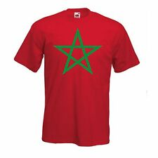 Morocco International T Shirt - Support Your Country T-Shirt Sport Flag