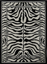 Animal Print Zebra Skin Area Rug Exotic Striped African Contemporary Carpet