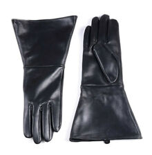 man's black tight style first grade soft nappa leather gloves