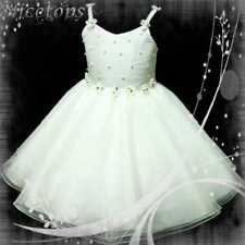 W875 Kid Girl Off Whites Christmas Party Flower Girls Dress SIZE 2-3-4-5-6-7-8-9