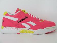 New Mens Reebok Trainers  Reverse Jam Low Retro 80's Style Sneakers Pink Leather