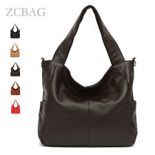 100% Real Genuine Leather Large Women Hobo Bag Ladies Shoulder Handbag Satchel