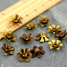 30pcs Brass Stamping Filigree Flower Charms 13mm bf17 PICK