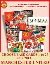 Choose Your ADRENALYN 2012 2013 MANCHESTER UNITED 12/13 BASE CARDS 001-027