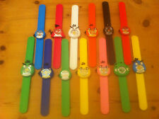 small strap kids childrens angry birds snap on slap on watch