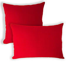 Aa129a Plain Solid Hot Red Cotton Canvas Cushion Cover/Pillow Case*Custom Size*