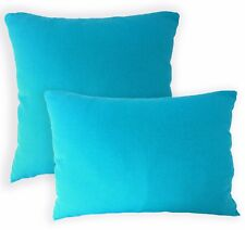 Aa138a Plain Turquoise Cotton Canvas Cushion Cover/Pillow Case*Custom Size*
