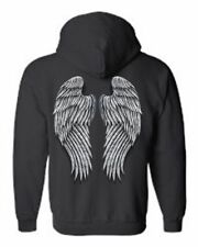 WOMEN'S ZIP UP HOODIE Full Fluffy Feathery Angel Wings S-XL 2X 3X 4X 5X 8 COLORS