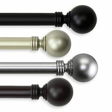 """Ball Curtain Rod 1"""" OD #10-01 choose from 3 colors and 4 sizes (28-170 inch)"""
