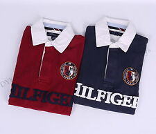 Tommy Hilfiger Men Logo Polo Classic Fit Rugby Shirt - Free $0 Shipping