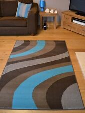 New Light Dark Teal Blue And Brown Small Extra Large Size Carpet Rugs Rug Mat
