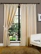 Natural Linen Ready Made Fully Lined Tape Curtains Available in 9 Sizes