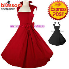 RK40 Rockabilly Vintage Swing Work Evening Dress 40s 50s Retro Emo Pin Up Plus