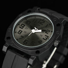 New Outdoor INFANTRY Mens Army Sport Quartz Wrist Watch Black Rubber Waterproof