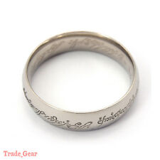 Titanium Ring Wedding LOTR Lord of Rings Silver Size 7-13 Engagement Anniversary