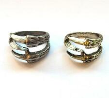 EAGLE CLAW RING Gold Or Silver Tone NEW GIFT BOXED Grunge Animal Quirky Indie