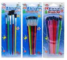 VARIOUS CHILDRENS PAINTING BRUSH SETS FOR POSTER ARTIST PAINTS CRAFTS SCHOOL r/b