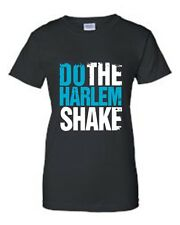 JUNIORS T-SHIRT WHITE/BLUE Do The Harlem Shake YOUTUBE CLUB TECHNO DANCE S-XL 2X