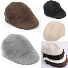 New Unisex Womens Mens Newsboy Flat Cabbie Beret Duckbill Golf Driving Cap Hat