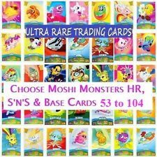 Choose MOSHI MONSTERS SERIES 3 CODE BREAKERS HR, S'n'S & BASE CARDS 53 to 104
