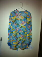 Lab coat Lab Jacket Warmup Tropical Blooms by SCRUBS