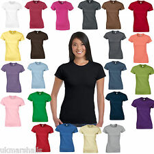 36 x Gildan SoftStyle™ Ladies Fitted Ringspun T-Shirts - 25 Colours  Sizes 8 -18