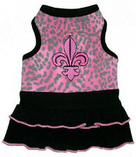 NEW Ruff Ruff Couture Pink Chelsea Fleur De Lis Dog Dress - Several sizes