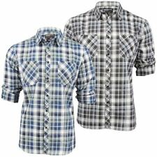 Mens Dissident Check Shirt 'Vega' Roll Up Sleeve