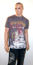 CHRISTIAN AUDIGIER Ed Hardy T-Shirt RHINESTONE Bling Shirt Men's CITY OF ANGELS
