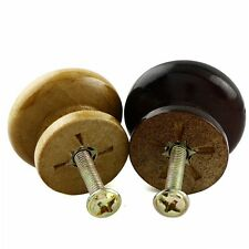 New High Quality Home WOOD Round Cabinets Hardware Knobs With Screw 10pcs/bag