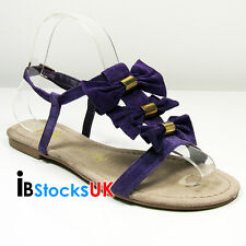 Ladies Womens Primark Gladiator Purple Sandals Beach Summer Shoes 3 4 5 6 7 8 07