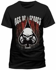 Ace OF Spades Tri Skull T Shirt  Black S M L XL Motorhead Lemmy FANPAC LONDON
