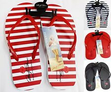 NWT Marilyn Monroe Flip Flop Striped Thong Sandals Beach Shoes ALL COLORS S-XL