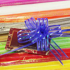 Pack of 10 TEN Organza Butterfly Pull Bows!  Mini 18mm Pullbow Ribbon Pew End