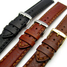 Napoli Luxury Heavy Stitched Padded Leather Watch Strap Band 18mm 20mm 22mm 24mm
