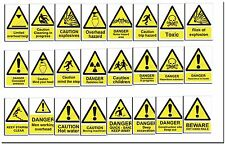 General Warning Signs - Factory Work Warehouse Building Office Shop 60+ WA4