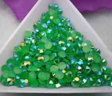 Jelly Dark green AB Crystal Multiple faceted resin Flat Back Rhinestones clothes